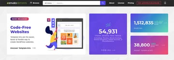Envato Elements one flat rate thousands of premium templates