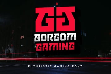 Gorgom - Futuristic Font
