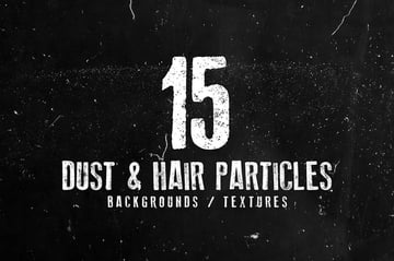 15 Dust and Hair Particles Backgrounds and Textures