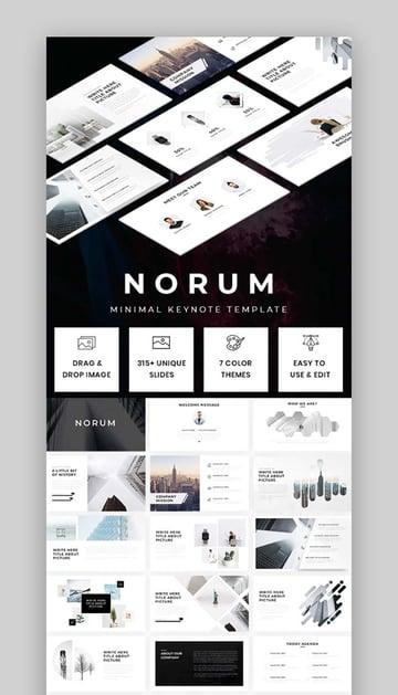 Norum - Minimal Keynote Template