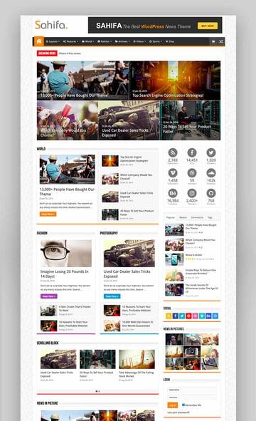 Sahifa - Responsive WordPress News Magazine Blog Theme
