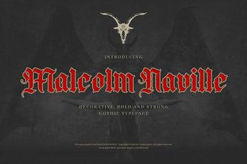 Malcolm Naville - Vintage Gothic Blackletter