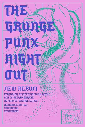 Punk Vibe Grunge Flyer Template