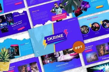 Skrine - Music Festival Powerpoint Templates