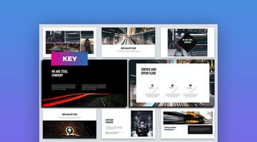 Steel - Business Keynote-Vorlage