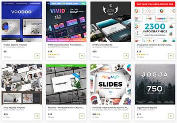Best Keynote presentation design templates on GraphicRiver