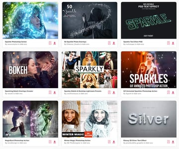 Enjoy unlimited downloads of professional sparkle visual effects from Envato Elements.