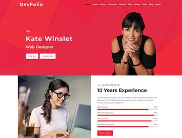 Devfolio Free HTML Website Template