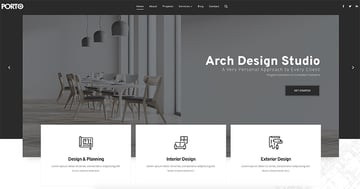 Porto, one of the most popular HTML website templates, features 80+ demos.