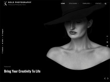 Bold Photography is one of the WordPress photography themes free to try in 2021.