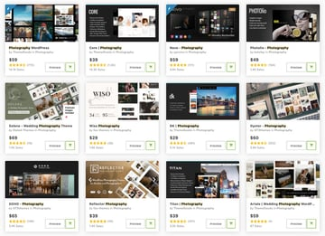 ThemeForest is the top place to get the best photography WordPress themes.