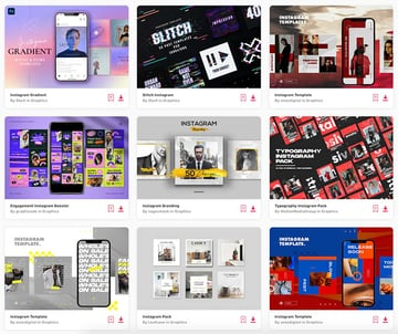 Download unlimited Instagram themes from Envato Elements and create the best feed for your followers.