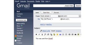 Send SMS Using PHP Tutorial Gmail