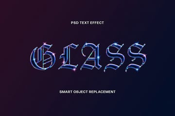 Glass Text Effect Photoshop