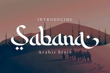 Sabana Arabic Calligraphy English Font