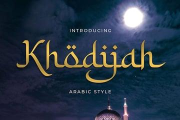 Khodijah Arabic Looking Font