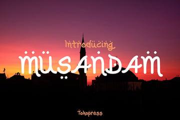 Musandam Arabic Font Style Download