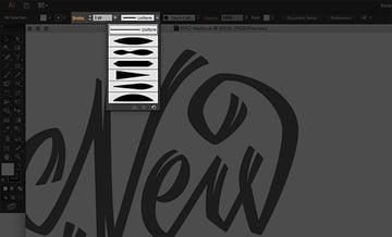 Hand Drawn Lettering Illustrator Tutorial Handling Bezier Variable Width Tool