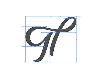 How to Hand Draw Letters Tutorial Handling Bezier The Th Vector