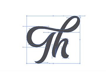 How to Hand Draw Letters Tutorial Handling Bezier The Completed Th Vector