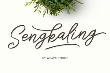Simple Calligraphy Hand Lettering Fonts From Envato Elements Sengkaling Script