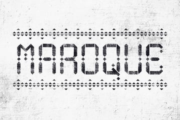 Maroque Stencil Arabic Style Font