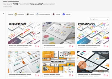Hundreds of graphic PowerPoint templates on Envato Elements