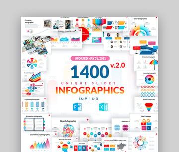 Massive Infographic Multipurpose Data Slide Design PPT Theme