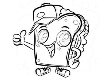 Mascot Logo Design Tutorial sandwich mascot design variable width profile stroke edit segment path