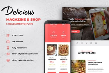 Delicious Responsive Email Marketing Templates