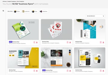 Thousand of creative business flyer templates on Envato Elements - flyer inspiration 2021