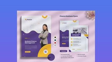 Finance Business Flyer Template Design