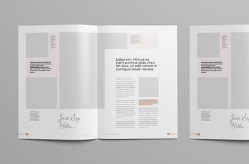 Creative Template With Modern Magazine Article Layout