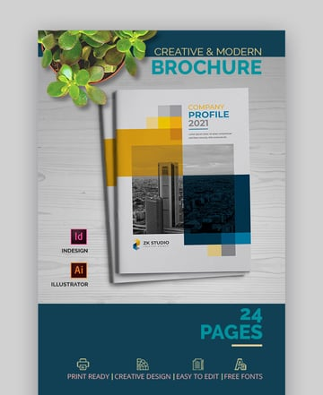 Company Profile Brochure InDesign Template