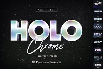Holochrome Adobe Photoshop Text Effects Download
