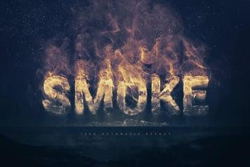 Smoke Logo Photoshop Text Styles