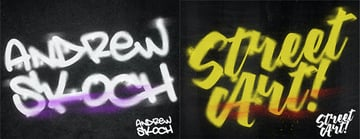 Spray Paint Adobe Photoshop Text Effects Download