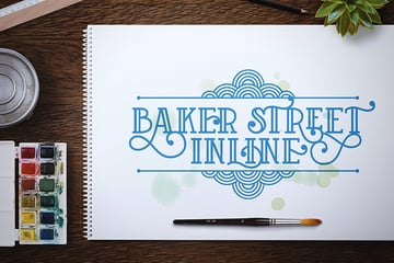 Baker Street Decorative Font Types