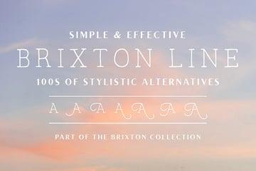Brixton Line Handwritten Script Font