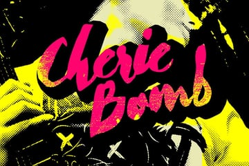 Cherie Bomb Script Lettering Font