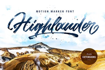 Highlander Bold Script Font