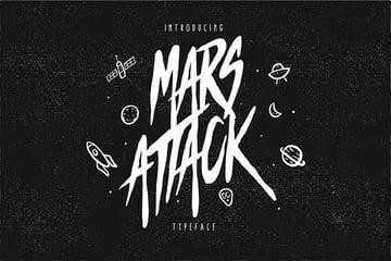 Mars Attack Cool Decorative Fonts