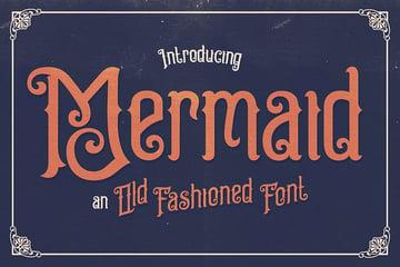 Mermaid Decorative Font Examples