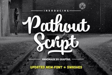 Pathout Script Lettering Font