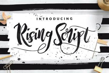Rising Brush Script Font