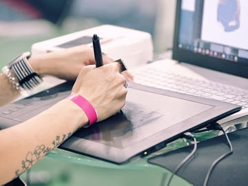 using a graphic tablet