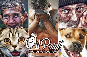 Oil Painting Photoshop Effect Action Download