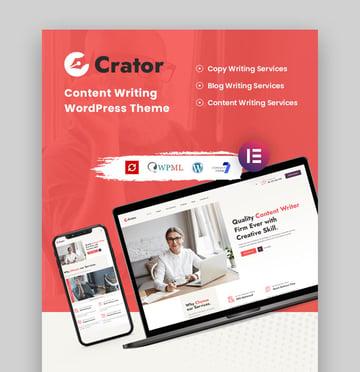 Crator Author Website Template