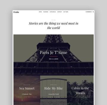 Evoke WordPress Book Author Theme