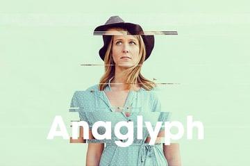 Anaglyph Glitch Photography Design Glitch PSD
